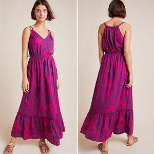 Purple & Fuchsia Maxi Dress